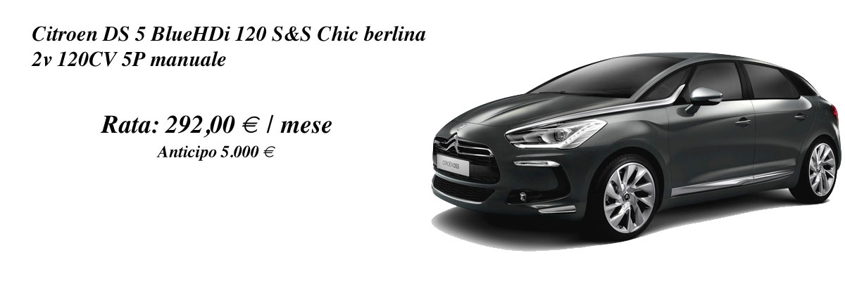 DS DS 5 BlueHDi 120 S&S Chic berlina 2v 120CV 5P manuale